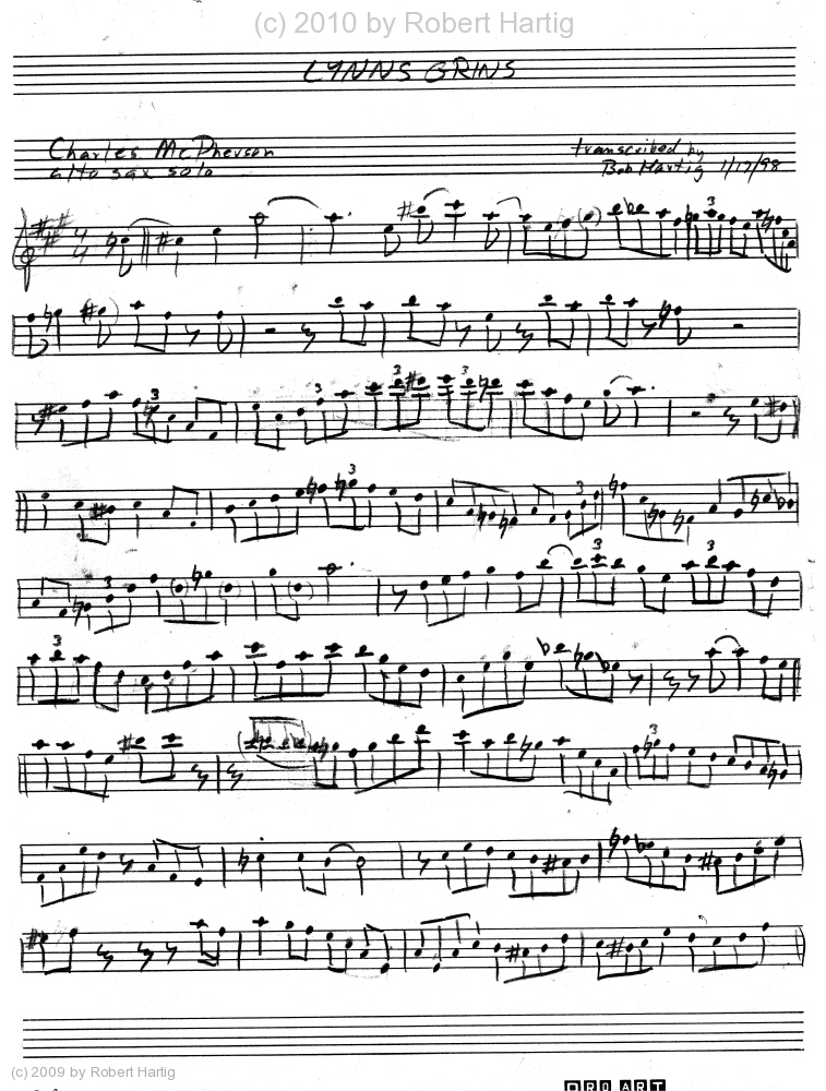 Solo Transcriptions (Sax) Â« saxopedia