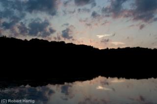 hall-lake-sunset