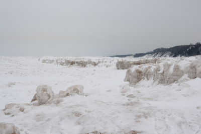 Ice Formations Along the Coastline