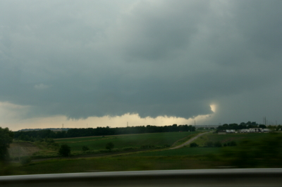 Wall cloud on northernmost storm.