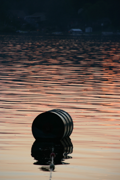 Swimming Buoy at Sunset, Camp Henry