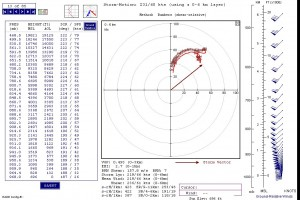 November 17 6Z NAM hodograph for NW IN, forecast hour 18Z