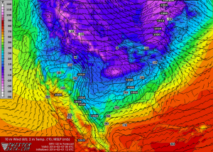 Feb 1 GFS 132-hr fcst