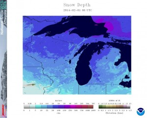 Snow Depth Feb 1 2014